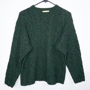 J Crew Vintage Wool Chunky Swearer Dark Green S